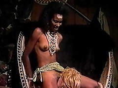 Ebony princess summons white slave to eat her