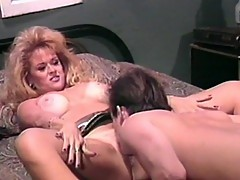 Horny mature blonde sucks delectable cock