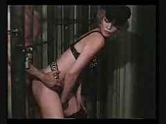 Leggy blonde dominatrix fucks horny inmate