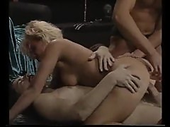 Retro porn double penetration with blonde