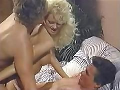 Vintage Action With Blonde Babe Brit Morgan Getting Dp In A Threesome