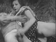 Black And White French Porno From The Past With Some Nasty Hairy Pussies