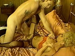 Hairy stud rams blondes pussy