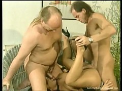 German Retro Busty Tiziana Redford threesome