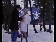Stunning Blonde Fucking On Snow