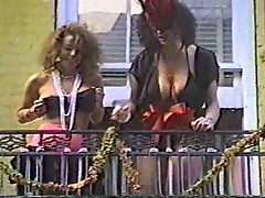 Vintage girls showing boobs in public