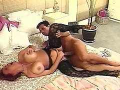 Busty redhead gets fucked by long meat