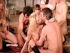 Vintage French Classic With Lesbian And Multiple Partner Action