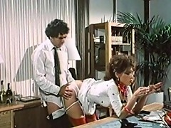 Hot secretary pleases her boss