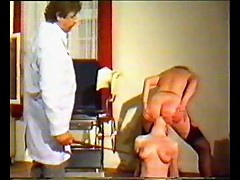 Vintage bondage with spanking action