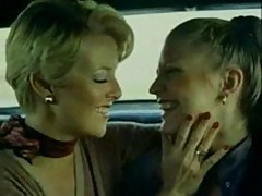 Two horny babes doing lesbian sex in car
