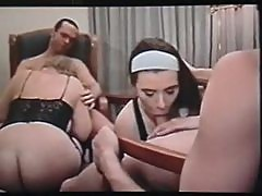 Retro swinger group movie in a hotel