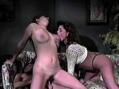 Threesome for triple fun plus a dildo