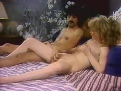 Retro Blonde Babe With Big Natural Knockers Sucks Cock and Gets Fucked