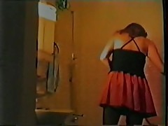 Housewife fucks in bathroom