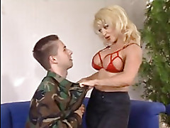 Mature woman caught with young guy
