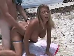 Amber Lynn Bach hot beach sex!