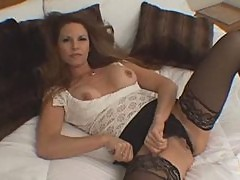 Sexy Milf Selena Steele In Black Stockings Gets Fucked