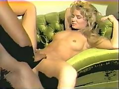 Vintage Interracial And Lesbian With Sunny Mckay Lipping A Big Black Cock And Then Lesbian Action