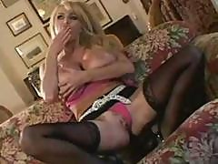 Busty Blonde Taylor Wayne Gets Down On A Cock And Then Fucks