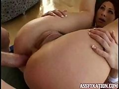 Tiffany Mynx Has Her Ass Fucked With Her Legs Spread Wide